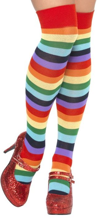 Multi-Coloured Clown Socks