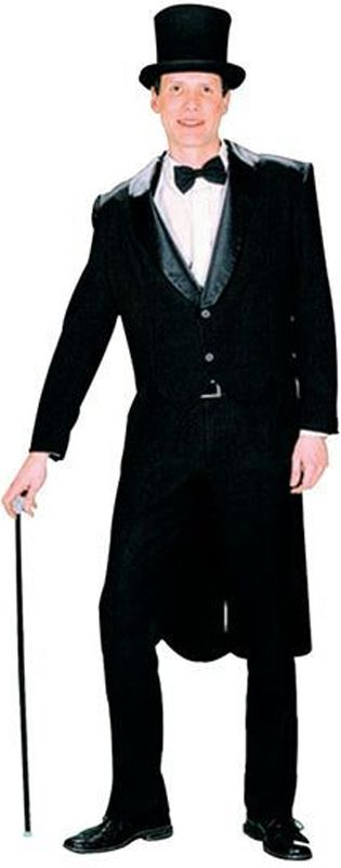 Men's Black Tailcoat