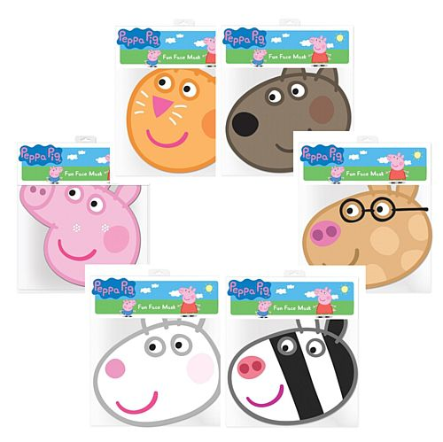 Peppa Pig Party Masks - Pack of 6