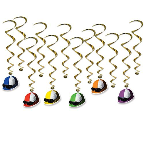 Horse Racing Jockey Helmet Whirls - 66cm - Pack of 12