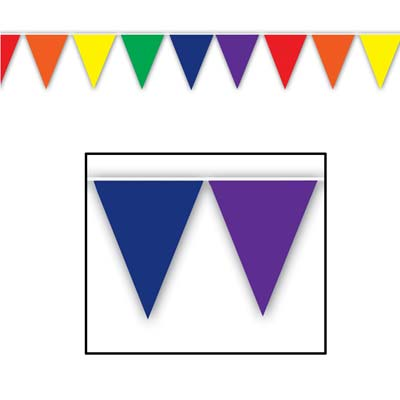 Rainbow 'All Weather' Bunting - 3.7m (12') - 12 flags