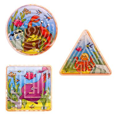 Mini Sealife Maze Puzzle  - Assorted - Each