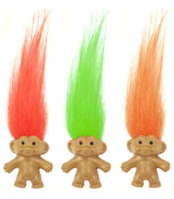 Mini Troll Dolls - Assorted - Each