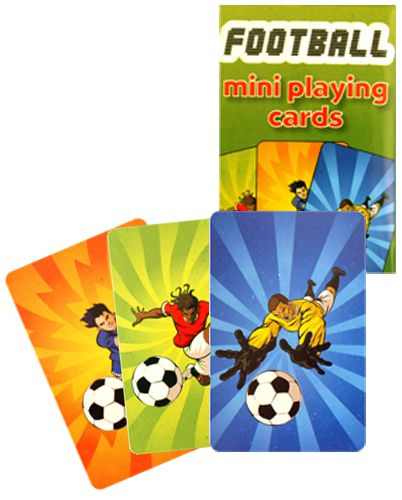 Pack of Mini Football Playing Cards - 4cm x 6cm