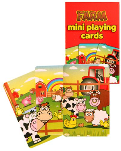 Pack of Mini Farm Playing Cards - 4cm x 6cm