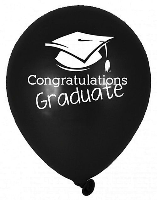 Congratulations Graduate Latex Balloons - 30cm - Pack of 6
