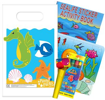 Filled Sealife Themed Party Bags - Pack of 100