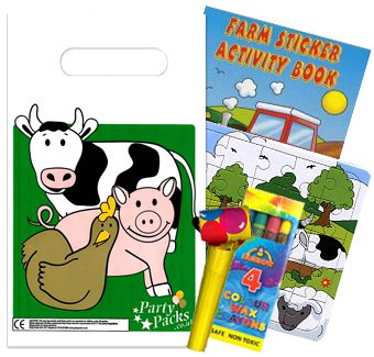 Filled Farm Themed Party Bags - Pack of 100
