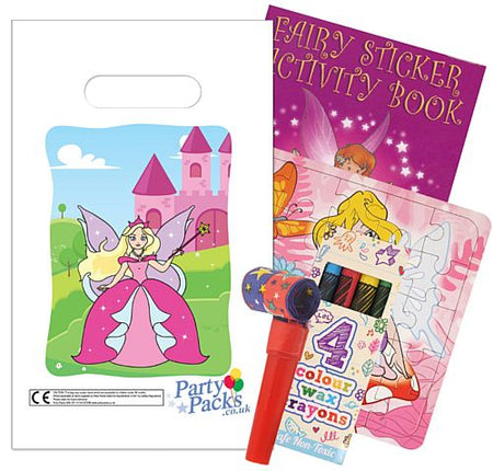 Filled Fairy Themed Party Bags - Pack of 100