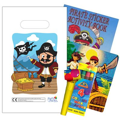 Filled Pirate Themed Party Bags - Pack of 100