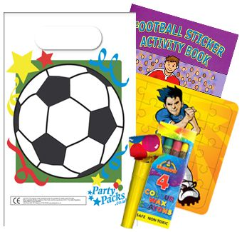 Filled Football Themed Party Bags - Pack of 100