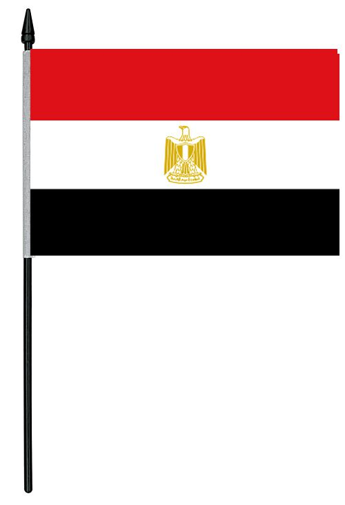 "Egypt Cloth Table Flag - 4"" x 6"""