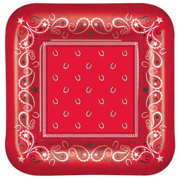 Bandana Plates - 22.9cm - Pack of 8