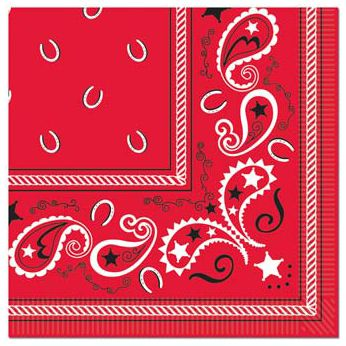 Bandana Luncheon Napkins - 2-Ply - Pack of 16