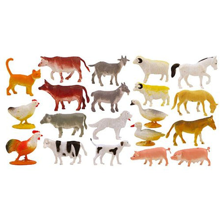 Mini Farm Assorted Animals - 5cm - Each