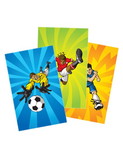 Mini Football Notebook - Assorted - Each