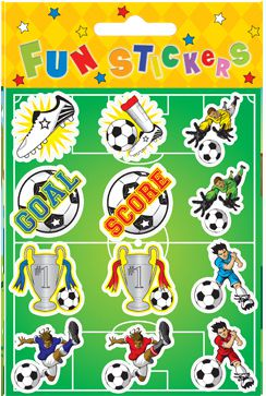 Football Stickers - Assorted - 11.5cm- Each
