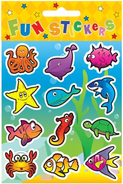 Sealife Stickers - Assorted - 11.5cm - Each