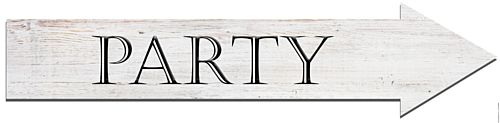 Party Arrow Sign Paper Banner