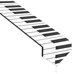 Printed Piano Keyboard Paper Table Runner - 1.83m