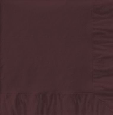 Chocolate Luncheon Napkins - 3 Ply - 33cm - Pack of 50