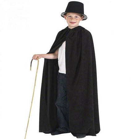 Child's Black Cloak With Hood