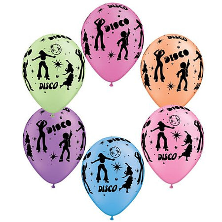 Disco Neon Assorted Qualatex Balloons 279cm Pack Of 10