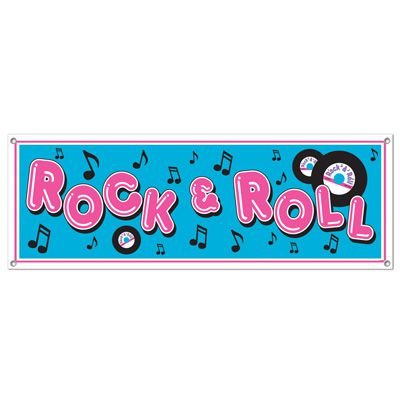 Rock & Roll Sign Banner - 1.52m