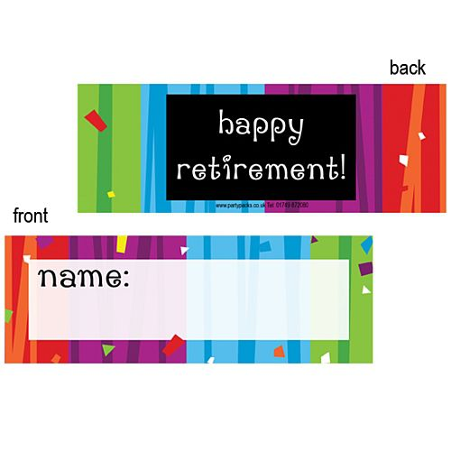 Retirement Confetti Placecards - Pack of 8