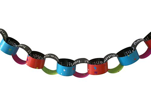 Retirement Confetti Paper Chain Kit - A3 Paper