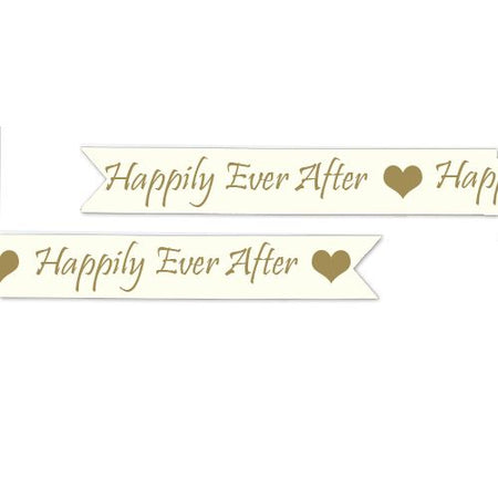 Happily Ever After Printed Ribbon - 15mm - Per Metre