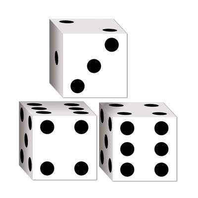 Dice Favor Boxes - 8.3cm - Pack of 3