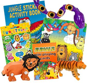 Jungle Party Toys Assorted - Pack of 100