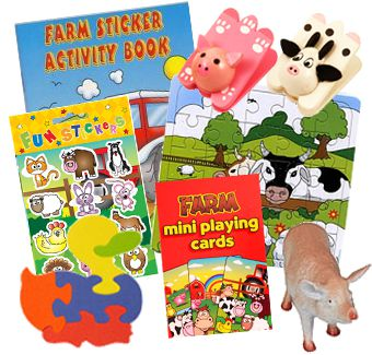 Farm Party Toys Assorted - Pack of 100