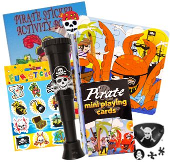 Pirate Party Toys Assorted - Pack of 100