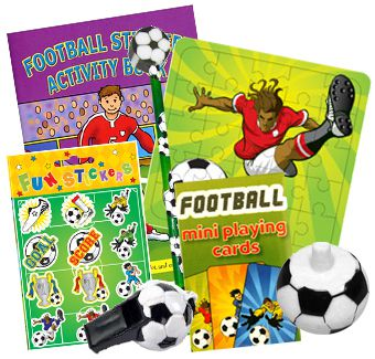 Football Party Toys Assorted - Pack of 100