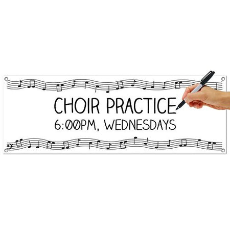 Musical Notes Sign Banner - 1.52m
