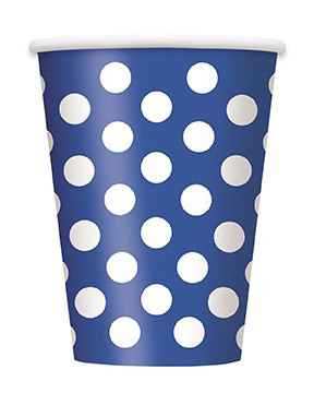 Blue Dots Cups - Pack of 6