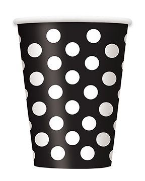 Black Dots Cups - Pack of 6