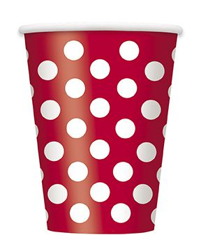 Red Dots Cups - Pack of 6