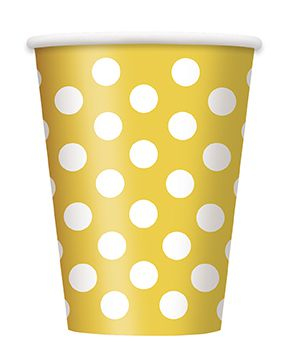 Yellow Dots Cups - Pack of 6