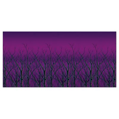 Spooky Forest Treetops Backdrop - 6m (20ft)