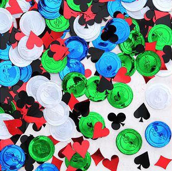 Multi-Colour Poker Party Confetti - 1/2oz