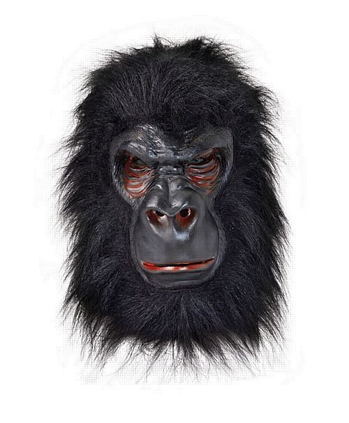 Gorilla Mask - Black Hair