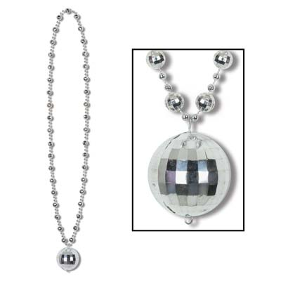 Disco Ball Beads with Disco Ball Medallion - 91.4cm