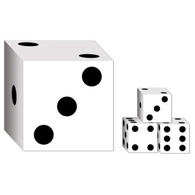 Dice Card Boxes - 16.5cm - Pack of 2