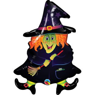 Wacky Witch Foil Balloon - 35.6cm