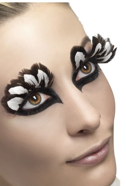 Brown And White Feather Eyelashes