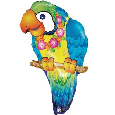 Tropical Parrot Supershape Foil Balloon - 29