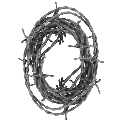 Silver Barbed Wire Garland - String Material - 3.7m